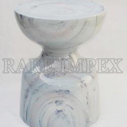 metal poufs